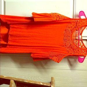 Bright orange shirt